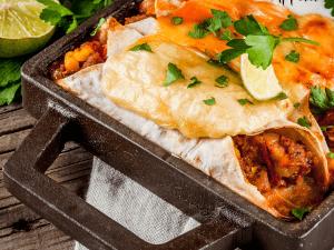 Beef & Rice Stuffed Enchiladas